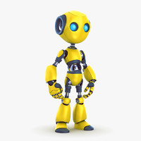 robot bot 3d max