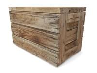 3d wooden box model