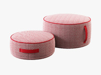 3d land nod herringbone pouf model