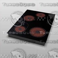 3d model electric cooktop