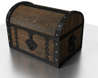 tudor chest metal wood 3d obj