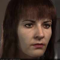 3d woman head female realistic girl model