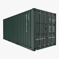 20 ft iso container 3d c4d