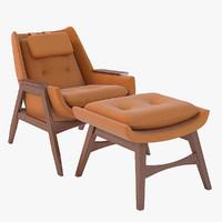 lounge chair ottoman 3d model