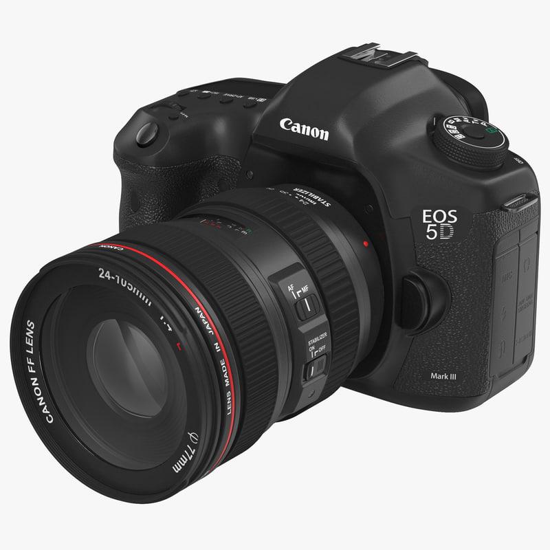 Digital Camera Canon EOS 5D Mark III 3d model 00.jpg