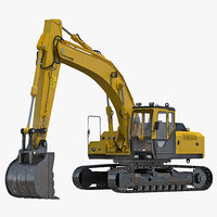 3ds max tracked excavator rigged