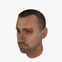 3ds max male head