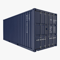 20 ft iso container 3d 3ds