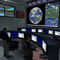 3d command center office room model