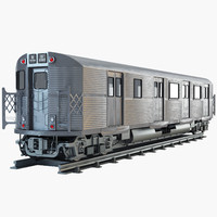 new york subway train 3d max