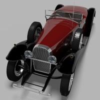 1931 bugatti type 41 3d 3ds