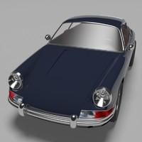 3d porsche 911 coupe 1964