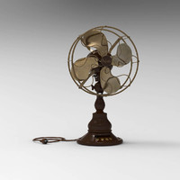 vintage electric fan 3d obj