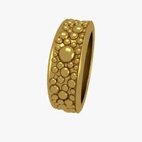 3d jewelry ring balls