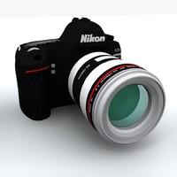 3ds max nikon d400 digital camera