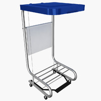mobile hamper stand 3d c4d