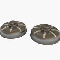 3dsmax mines bomb