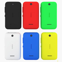3d model nokia asha 230 colours