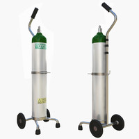 3d oxygen supply cart model