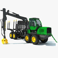 forwarder forestry vehicle 3ds