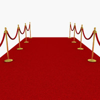 3d red carpet model