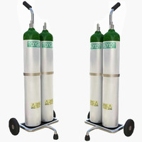 oxygen supply cart 3d max