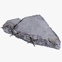 concrete debris 3d max