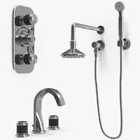 set jaipur shower head 3ds