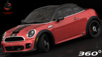 mini cooper s coupe 3d model