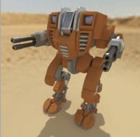 3d model rigged battle mech