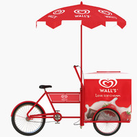 ice cream cart c4d