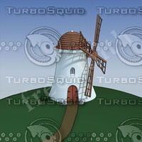 3d model cartoon windmill
