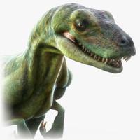 3d velociraptor animation