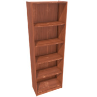 Worn bookshelf - Game ready with PBR textures