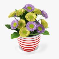 3d flower gerbera
