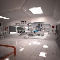 3ds max futuristic sci fi laboratory