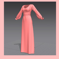 dress marvelous designer 3d obj