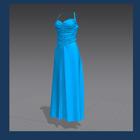 dress marvelous designer 3d model
