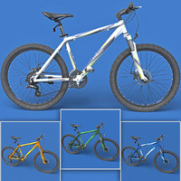 3d realistic mountain bike