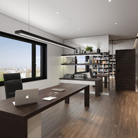 scene home office 3d max