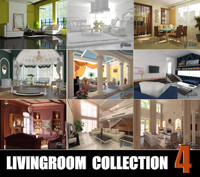 3d livingrooms scenes model
