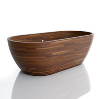 3ds max wooden bathtub