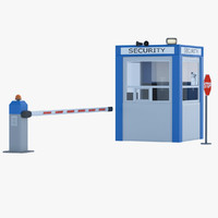 3d model security post