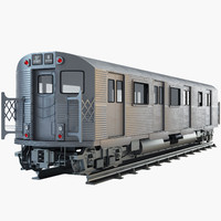 3d max new york subway train
