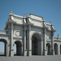 3d model triumphal arch