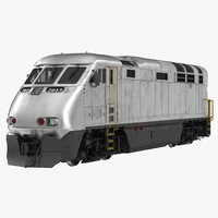 diesel electric locomotive 3d model