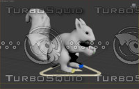 squirrel cat rigged 3d max