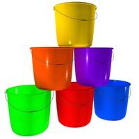 3d plastic bucket model
