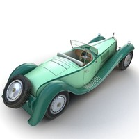 3d bugatti type 41 royale model