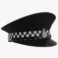 3d uk police cap 2